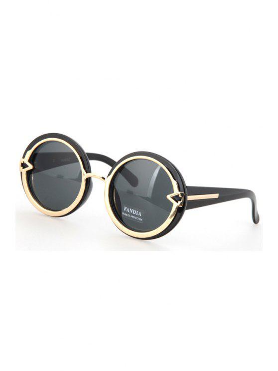 buy Alloy Splice Round Black Frame Sunglasses - BLACK
