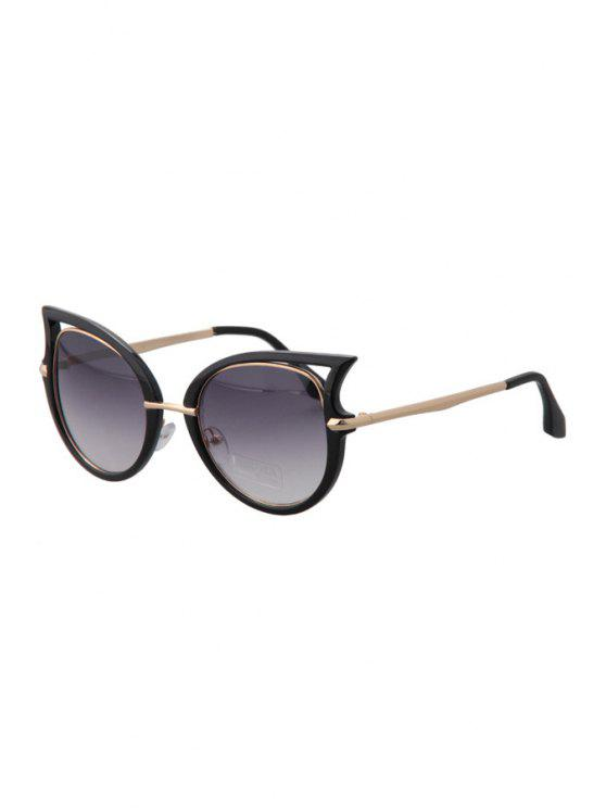 women Hollow Out Black Frame Sunglasses - BLACK