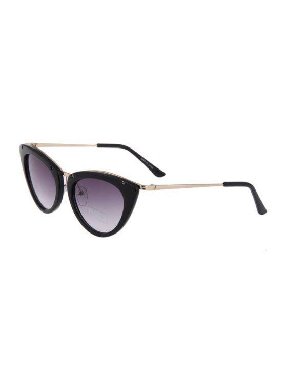Alas de la mariposa de la forma del color sólido de las gafas de sol de marco - Negro