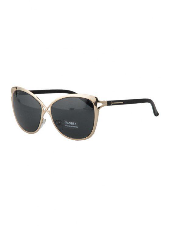 Ahueca hacia fuera Golden Cross Gafas de sol - Gris Oscuro