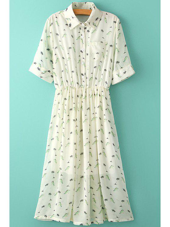 best Tiny Floral Print Ruffle Maxi Dress - AS THE PICTURE S