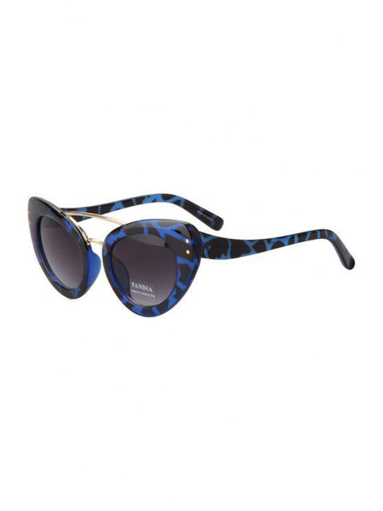 fashion Leopard Butterfly Wings Shape Sunglasses - BLUE