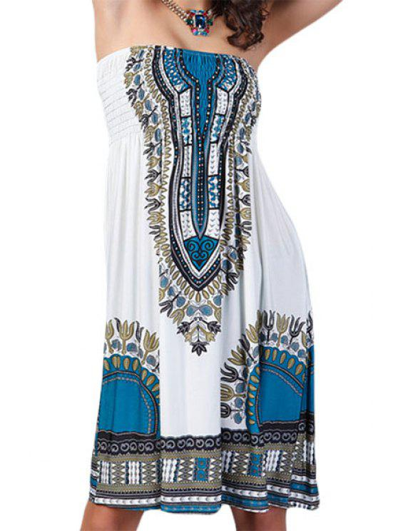 outfits Print Strapless Dress - COLORMIX ONE SIZE(FIT SIZE XS TO M)