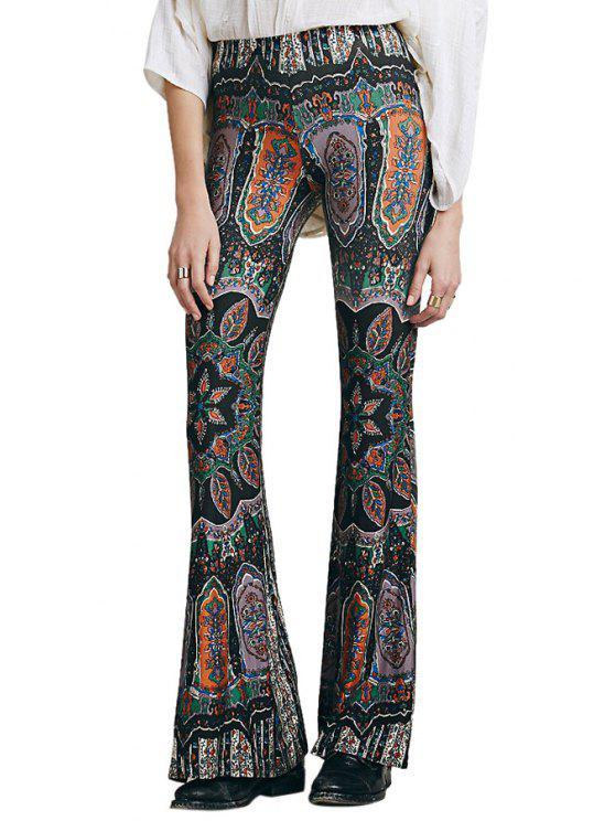 new Boot Cut Floral Print Pants - AS THE PICTURE XL