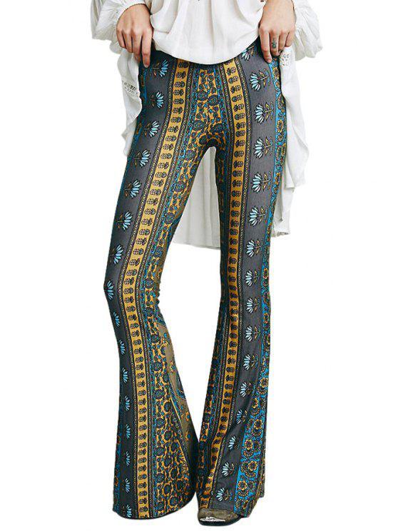 hot Floral Print Exumas Pants - COLORMIX S