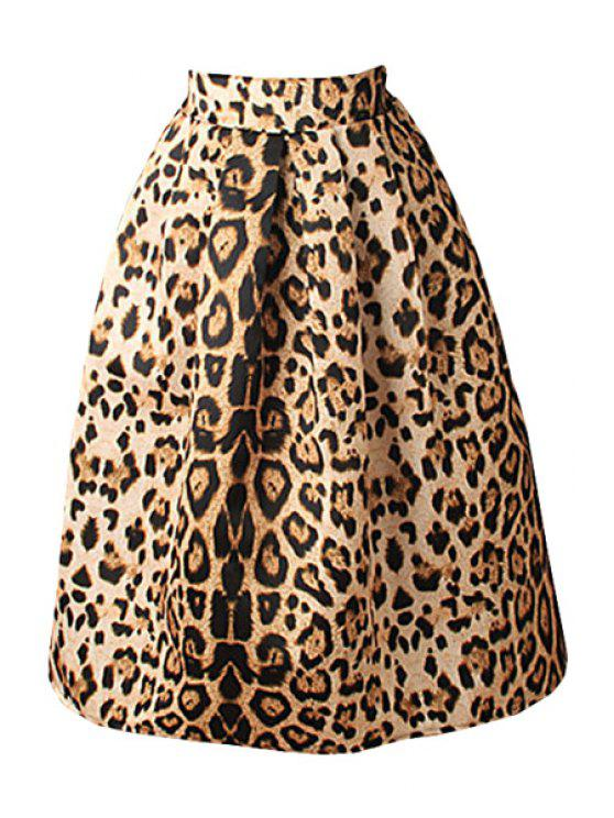 Leopard Print High Waisted A-Line Skirt LEOPARD: Skirts M | ZAFUL