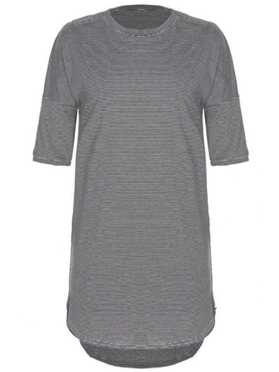 unique Stripe Round Neck Half Sleeve Dress - STRIPE S