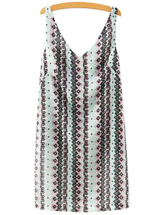 unique Sleeveless Stripes Printed Loose-Fitting Tank Top - COLORMIX S