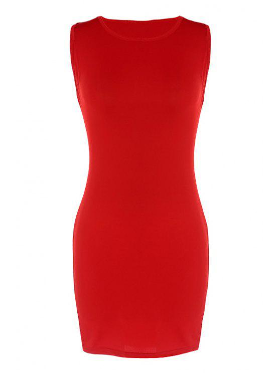 buy Red Bodycon Sundress - RED M