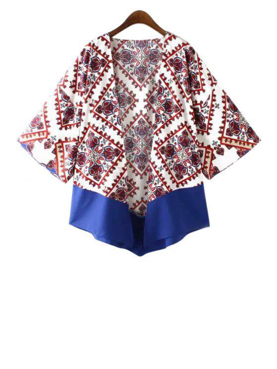 Kimono à manches longues - Blanc M
