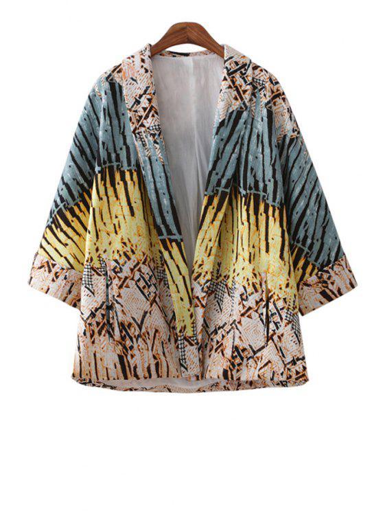 outfit Print 3/4 Sleeve Kimono Blouse - COLORMIX S