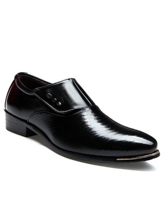 Career Pointed Toe et Magic Sticker Design Men's Formal Shoes - Noir 43