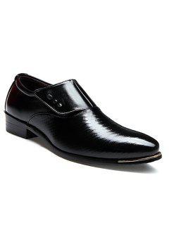 Carrera Apuntó El Dedo Del Pie Y El Diseño Mágico De La Etiqueta Engomada Zapatos Formales De Los Hombres - Negro 43
