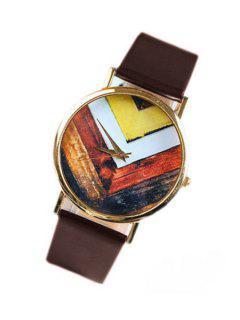 Geometric Pattern Watch - Brown