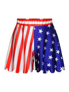 Star Stripe American Flag Print Shorts