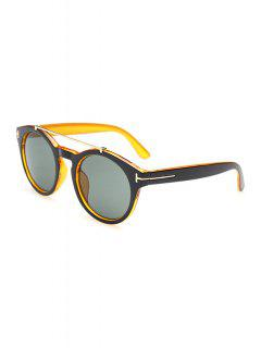 Alloy Splice Color Block Sunglasses - Yellow