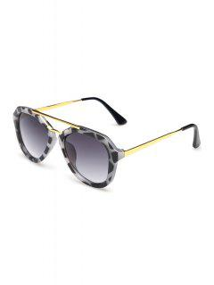 Alloy Dappled Frame Sunglasses - Black