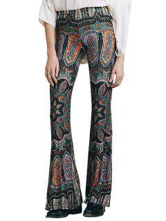 Boot Cut Floral Print Pants - M