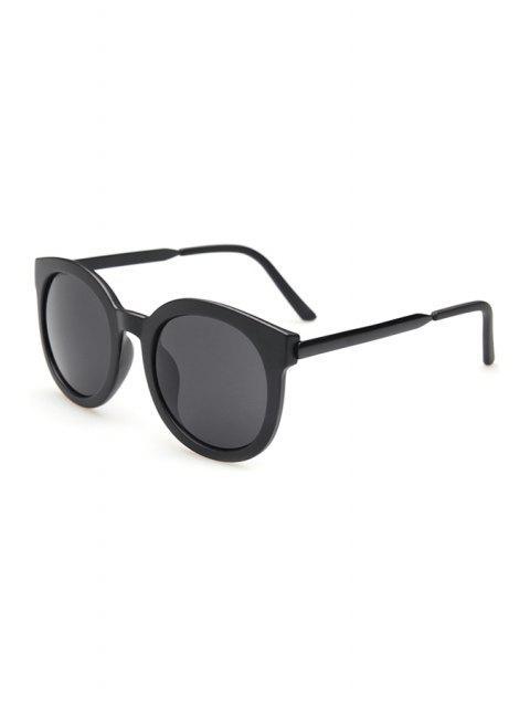 affordable Alloy Splice Solid Color Sunglasses - BLACK  Mobile
