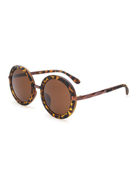 outfit Unsmooth Alloy Splice Leopard Sunglasses - DEEP BROWN  Mobile