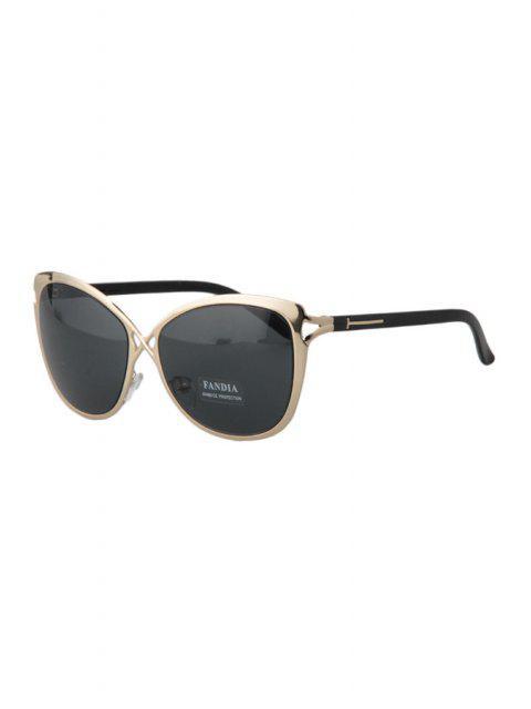 Ahueca hacia fuera Golden Cross Gafas de sol - Gris Oscuro  Mobile