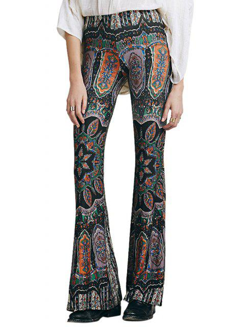 new Boot Cut Floral Print Pants - AS THE PICTURE XL Mobile