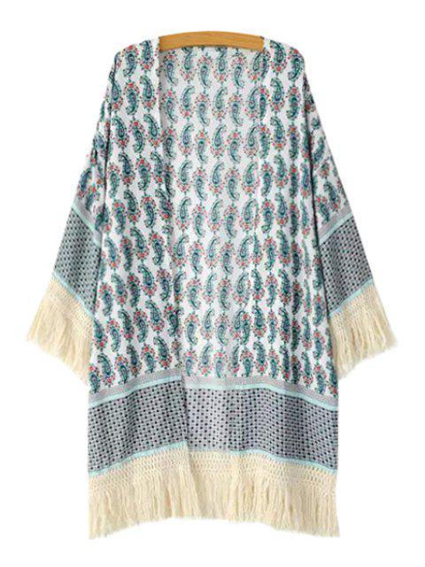Kimono à manches longues avec imprimé Paisley - Multicolore M Mobile