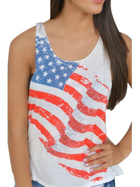 American Flag modello Tank Top - Bianca L Mobile