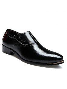 الوظيفي وأشار اصبع القدم والسحر ملصق تصميم الرجال الأحذية الرسمية - أسود 43