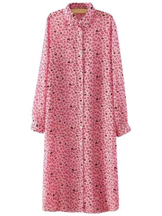 womens Leopard Print Long Sleeve Shirt - LEOPARD S