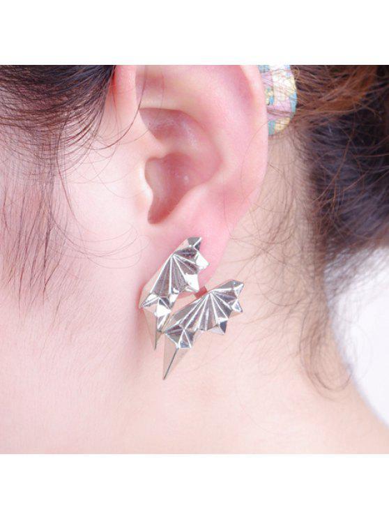 best ONE PIECE Trendy Irregular Rhombus Shape Stud Earring For Women - SILVER