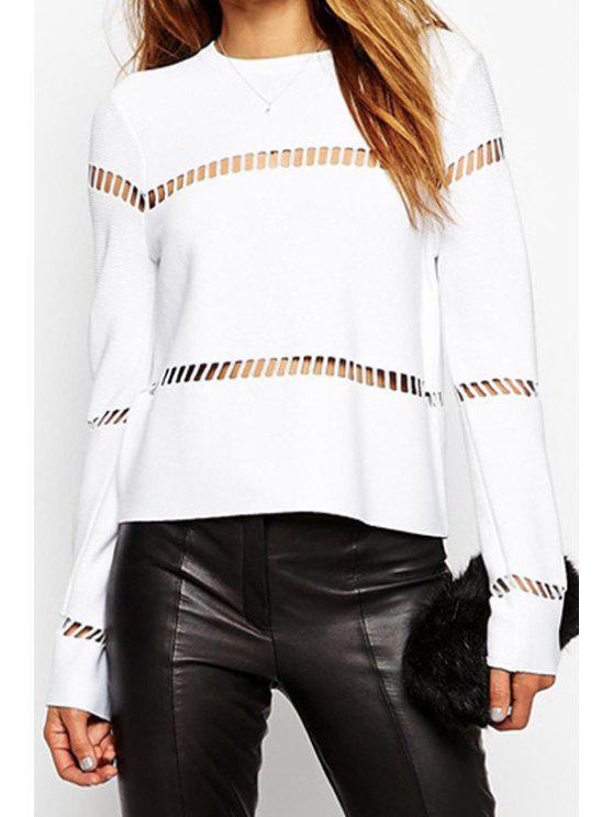 shops White Hollow Long Sleeve T-Shirt - WHITE S