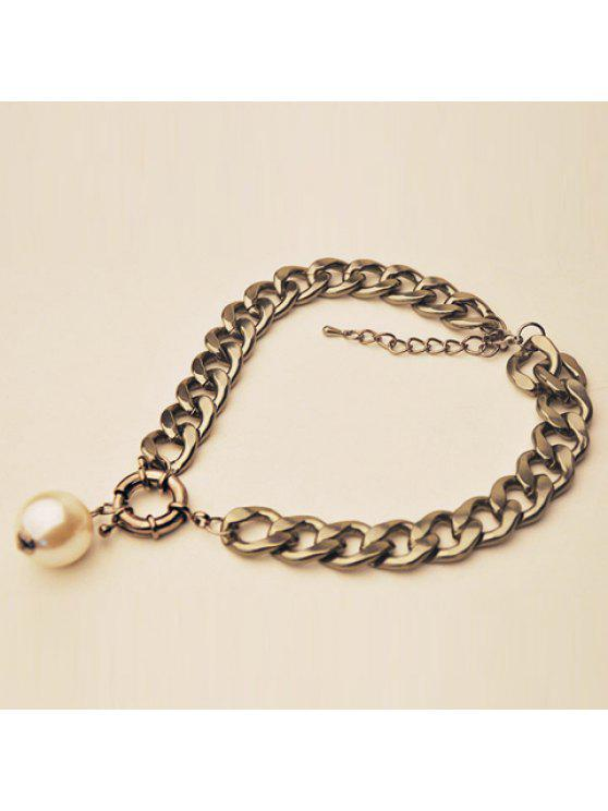 fashion Simple Faux Pearl Women's Necklace - SILVER GRAY