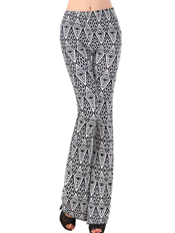 shop Argyle Pattern Color Block Pants - GRAY ONE SIZE(FIT SIZE XS TO M)