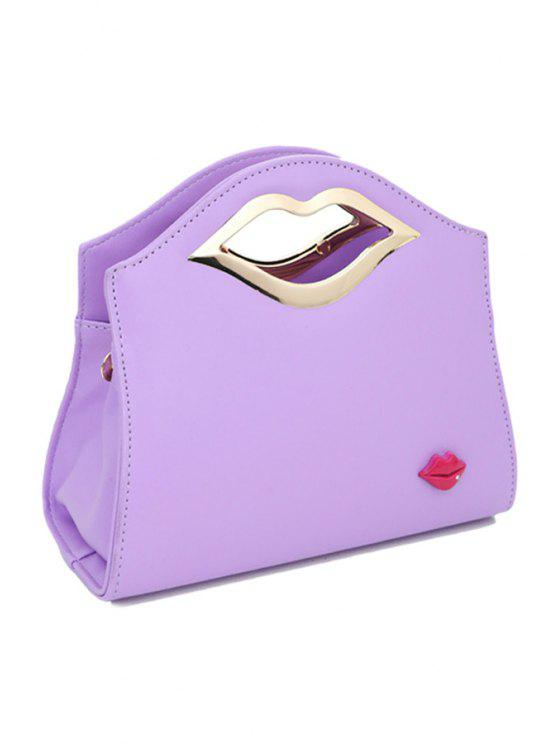 outfit Lip Candy Color Metallic Tote Bag - VIOLET