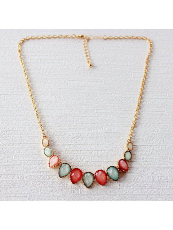buy Cute Colored Drop Beads Necklace For Women - COLORMIX