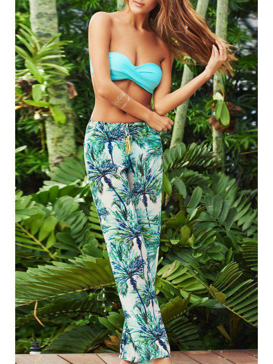 women's Tree Print Tie-Up Exumas Pants - COLORMIX XL