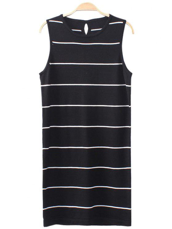 shops White Stripe Sleeveless Dress - BLACK ONE SIZE(FIT SIZE XS TO M)