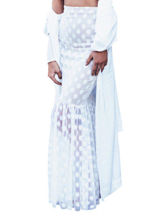 online White Lace Mermaid Skirt - WHITE S