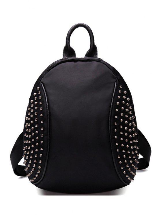 shops Black Rivets PU Leather Vintage Bag - BLACK