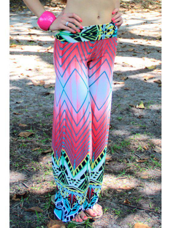 shops Geometric Pattern Wide Leg Exumas Pants - COLORMIX S