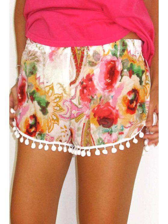 shop Paisley Print Straight Leg Laciness Shorts - COLORMIX S
