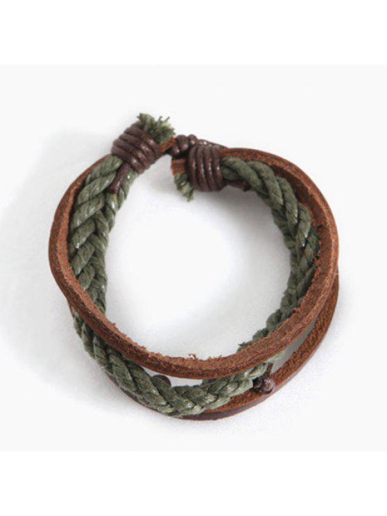 ladies Urban Braided Chain Bracelet For Men - GREEN