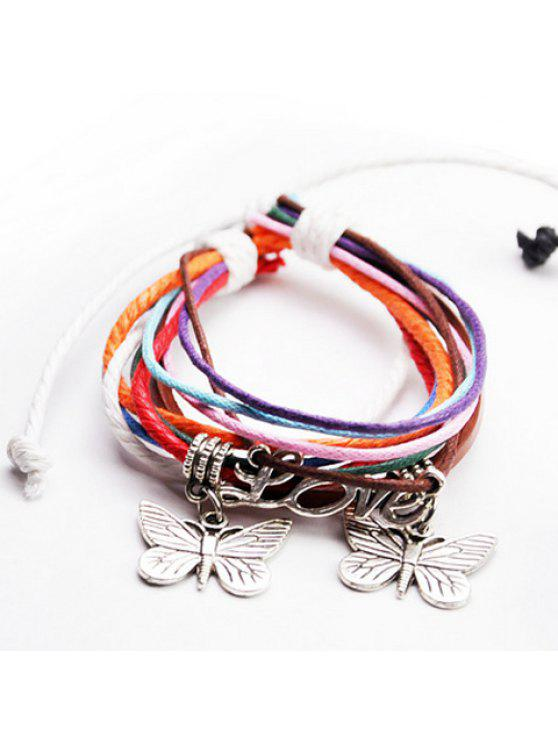 outfits Fantastic Butterfly Letter Layered Women's Bracelet - COLORMIX