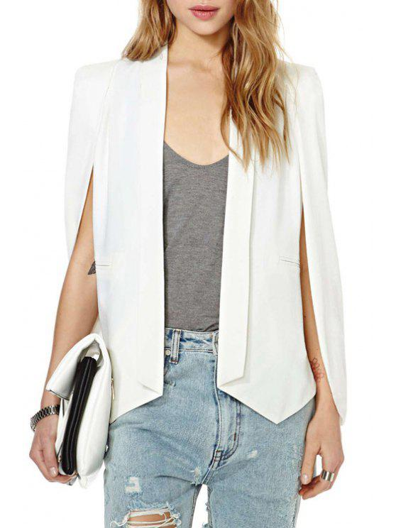 outfit Shawl Collar Solid Color Splicing Blazer - WHITE 2XL