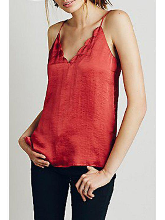 outfit Scallop Egde Cami - RED S