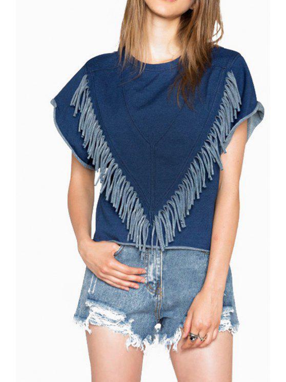 shop Blue Denim Short Sleeve T-Shirt - BLUE S