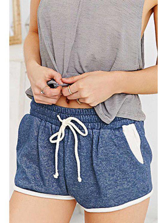 new Blue Drawstring Waisted Shorts - BLUE XS