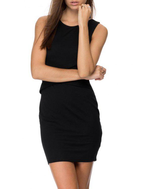 new Black Backless Sleeveless Dress - BLACK S
