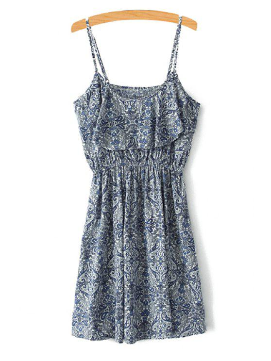 buy Spaghetti Strap Paisley Print Sleeveless Dress - COLORMIX XS